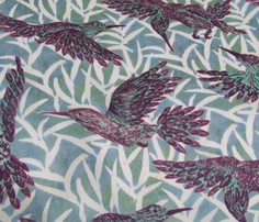 Rleaf_and_hummingbirds_pattern_-_purple_spoonflower_comment_840282_thumb