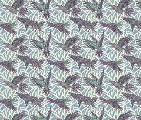 Rleaf_and_hummingbirds_pattern_-_purple_spoonflower_shop_preview