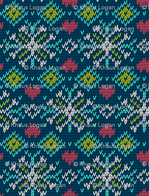 Winter Sweater Snowflake Pattern