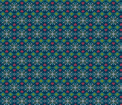 Winter Sweater Snowflake Pattern fabric by khaus on Spoonflower - custom fabric
