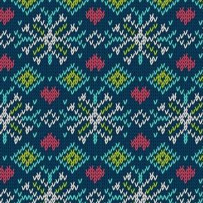 Winter Sweater Snowflake Pattern