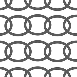 Grey Gray Chains Links Repeat Geometric Design