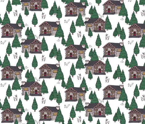 Holiday Cabin fabric by pond_ripple on Spoonflower - custom fabric