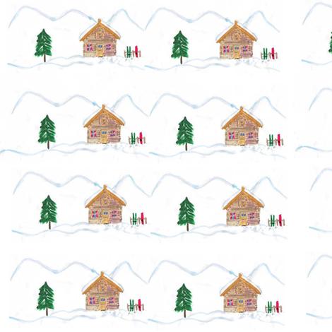 Ski_chalet fabric by amanda_jane_textiles on Spoonflower - custom fabric