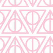 Pastel Potter - Pink on White Deathly Hallows