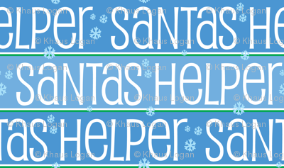 Santas Helper Blue and White with Cute Snowflakes