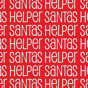 Santas Helper Stripes Red and White