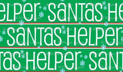 Santas Helper Stripes Green, White and Red