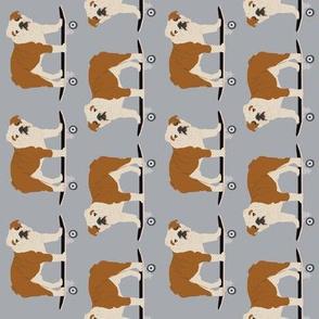 english bulldog skateboard boys kids baby nursery trendy grey bulldog dog pet pets puppy