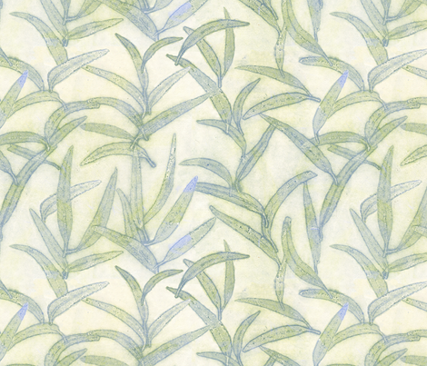 Leaves fabric by threebearsprints on Spoonflower - custom fabric