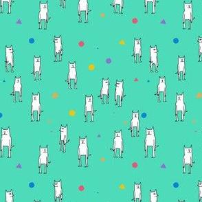 Turquise Cat Pattern