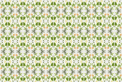 frame_leaves mirror fabric by bjdk on Spoonflower - custom fabric