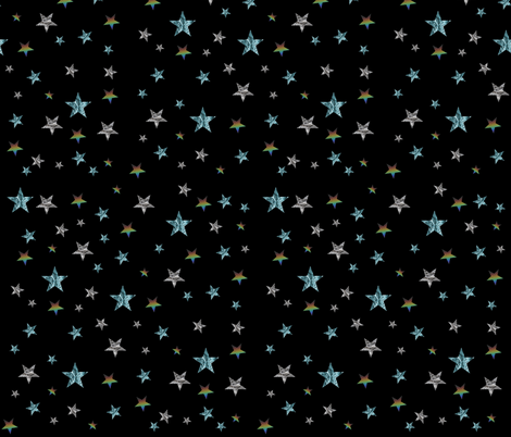 Stars fabric by redthanet on Spoonflower - custom fabric