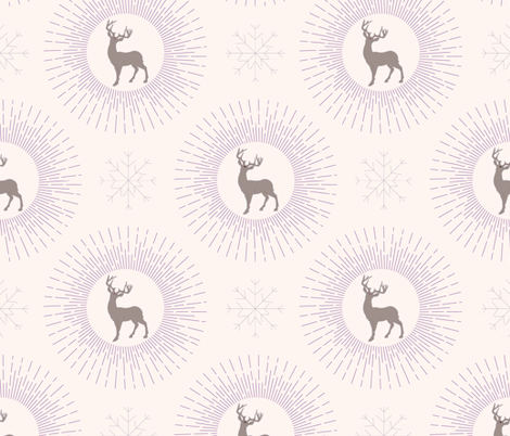 Magic reindeer fabric by maria_minkin on Spoonflower - custom fabric