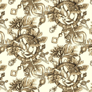 Jewelry in Sepia tones