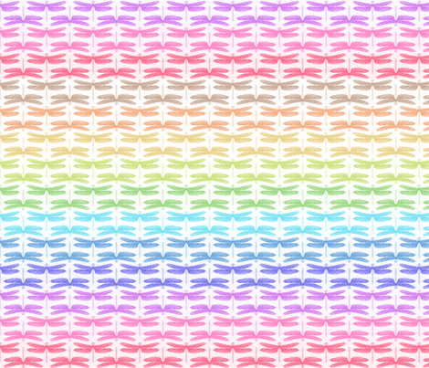 dragonfly shimmer stripe horizontal fabric by keweenawchris on Spoonflower - custom fabric