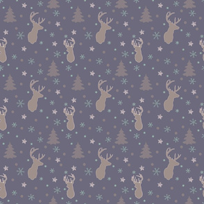 Christmasy deer collection - purple