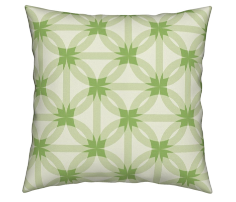 circle harmony -grass green and ivory