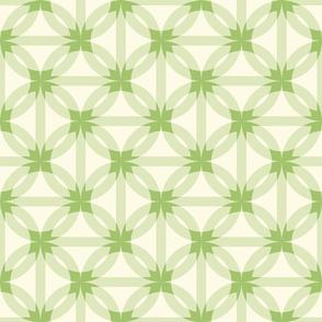 circle harmony -grass green and ivory