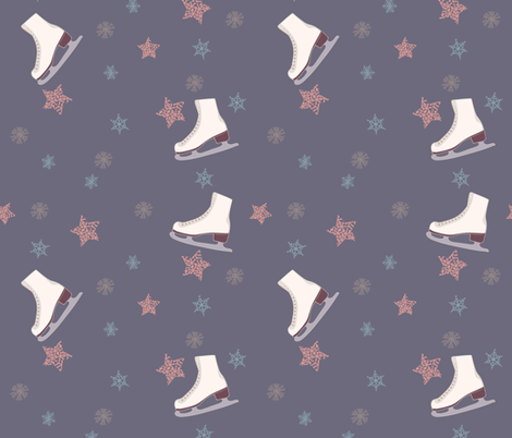 ice-skating-2 fabric by maria_minkin on Spoonflower - custom fabric