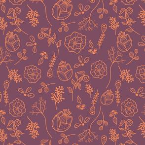 line-art-floral