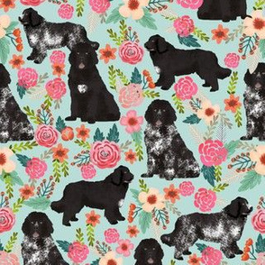 newfoundland dogs newfoundlands landseer fabric cute dogs dog fabric dog florals