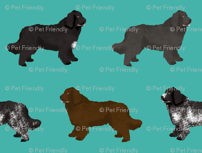 newfoundlands dog fabric cute dogs design newfoundland dog black and landseer dogs