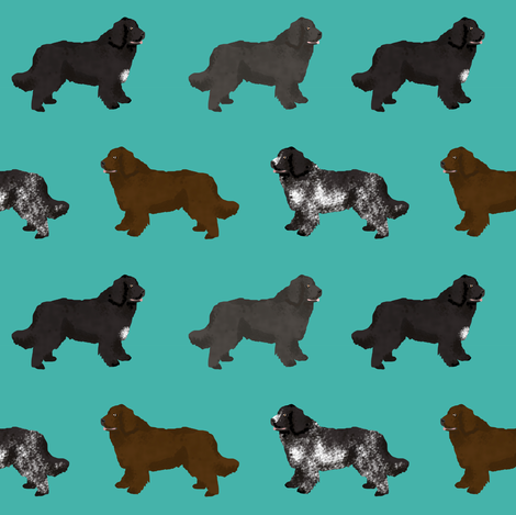 newfoundlands dog fabric cute dogs design newfoundland dog black and landseer dogs fabric by petfriendly on Spoonflower - custom fabric