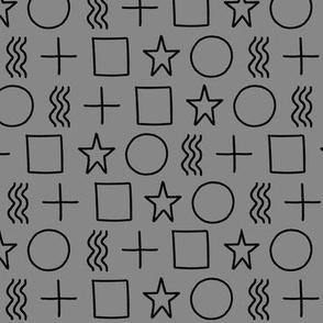 ESP test symbols gray