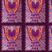 Purple Butterfly Happy Joyous Free