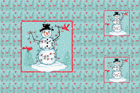 __16__COUNTRY_SNOWMAN_PILLOW_LIGHTS-Plus_2_Canvas_copy fabric by doodledoer-teresakelly on Spoonflower - custom fabric