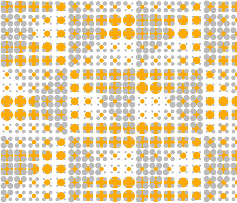 Dots on Dots - Orange fabric by zuzana_licko on Spoonflower - custom fabric