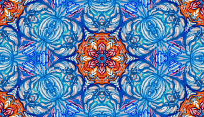 Turkish Rose  Mosaic Tile Pattern