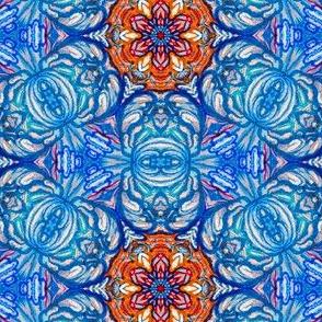 Turkish Rose  Mosaic Tile Pattern