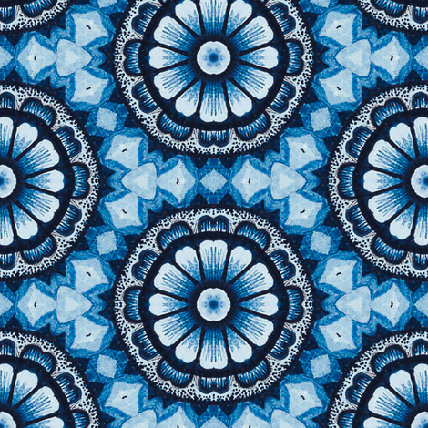 Blue Daisies fabric by ruth_cadioli on Spoonflower - custom fabric