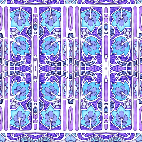 The Blue and the Purple Shall Bloom fabric by edsel2084 on Spoonflower - custom fabric