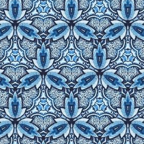 Bohemian blue orchid in vertical layout