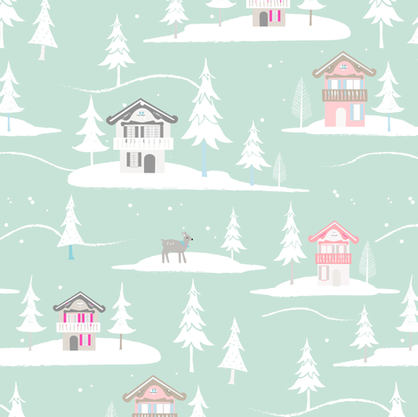 chalet fabric by pixabo on Spoonflower - custom fabric