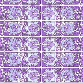 Plum Color Vine Design