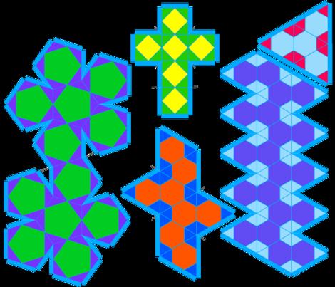 Platonic_solids fabric by poppyfield on Spoonflower - custom fabric
