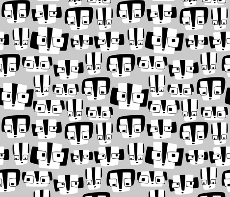 Square Faces fabric by hikje on Spoonflower - custom fabric