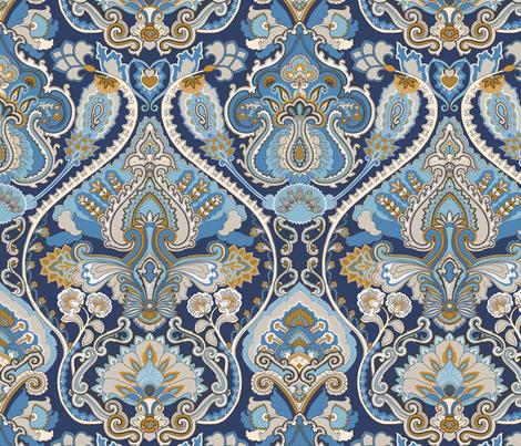 Adrian Paisley Atlantic fabric by bear_bell on Spoonflower - custom fabric