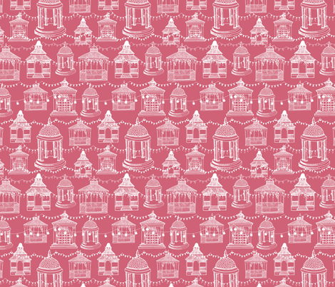 Gazebo Evening fabric by bear_bell on Spoonflower - custom fabric