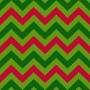 Christmas Three Color Chevron