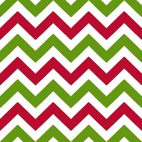 Lime Green and Red Christmas Chevron