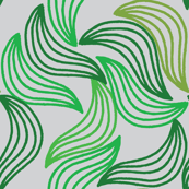 Green abstract leaves