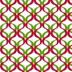 Lime Green and Red Christmas Wave Design
