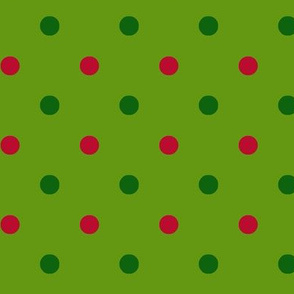 Lime Green Christmas Dot