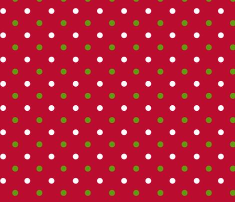 Red Christmas Dot fabric by rickrackscissorsstudio on Spoonflower - custom fabric