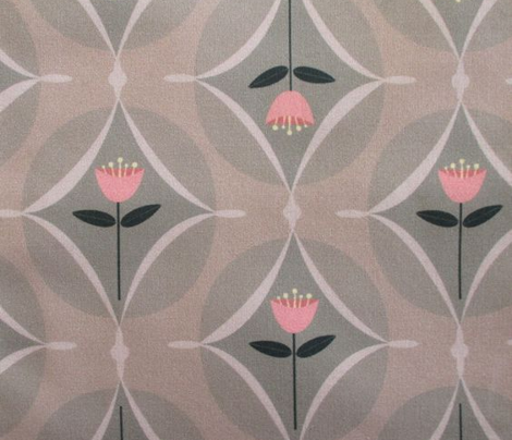 mod tulip - pink and gray